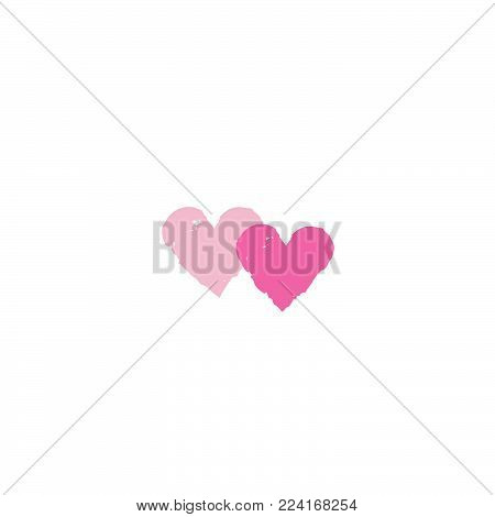 Two Hearts With Arrow. Love Sign. Valentine's Day Greeting Card