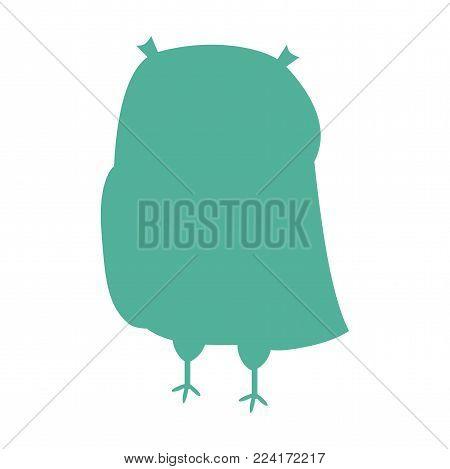 Owl silhouette icon. Wild animals silhouette Illustration. Owl symbol