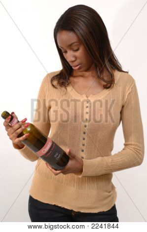 Woman With Wine Bottle