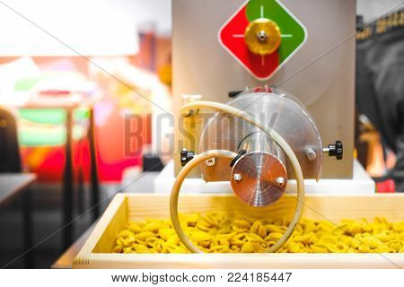 pasta production line factory kneading machinery shape.