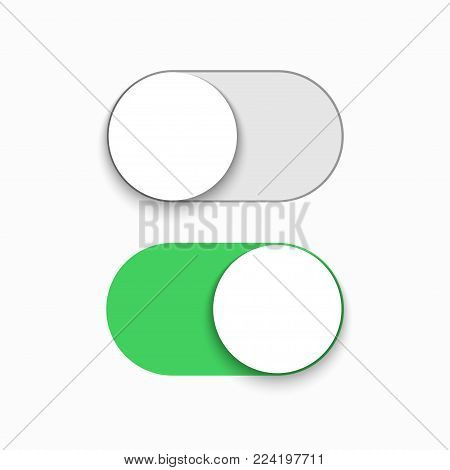 Vector modern slider button set on white background
