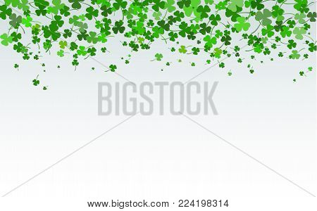 St. Patrick's day background in green colors. Vector Illustration of a St. Patrick's Day Background