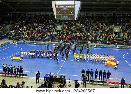 Friendly Futsal Game: Ukraine V Spain In Kyiv, Ukraine