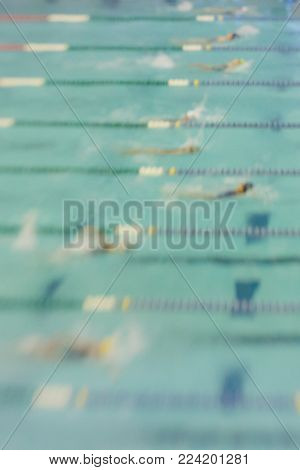 Swimmer Abstract Blur