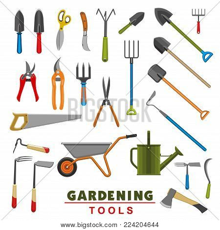 Garden images illustrations vectors garden stock for Gardening tools 4 letters