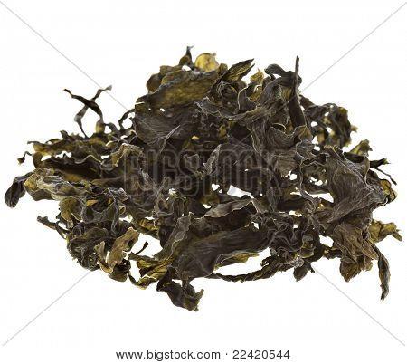 dried seaweed kelp background