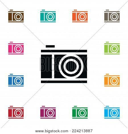 Isolated photograph icon. Snapshot  element can be used for snapshot, lens, camera design concept.