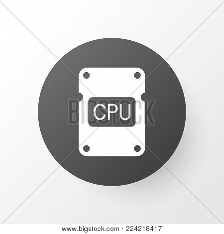 Central processor unit icon symbol. Premium quality isolated cpu element in trendy style.