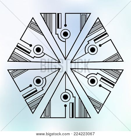 Six Symmetrically Vector & Photo (Free Trial) | Bigstock