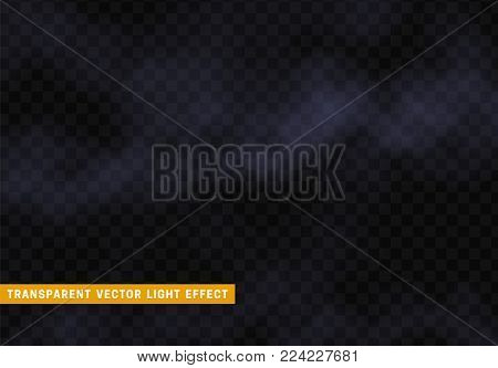 Fog or smoke isolated realistic, transparent effect background. Light clot of clouds. Gaseous chemical element, white vapor