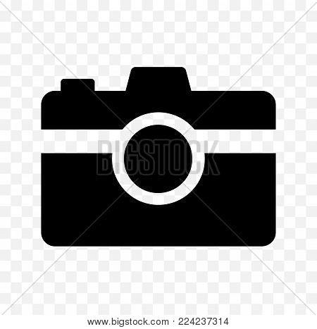 camera vector icon, photo camera symbol, camera icon