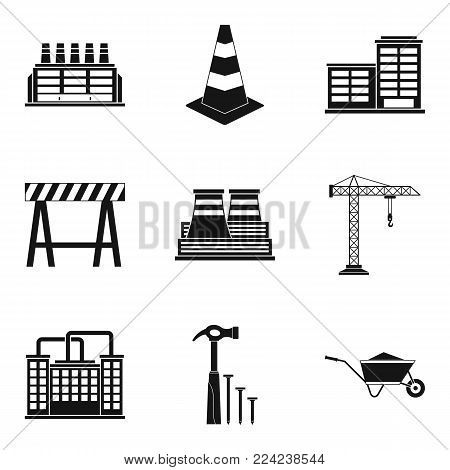 Sector icons set. Simple set of 9 sector vector icons for web isolated on white background