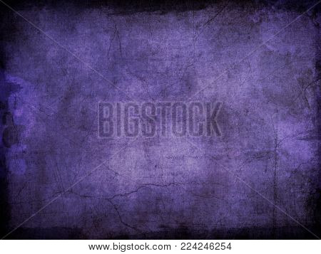 Grunge style purple background with splats and stains