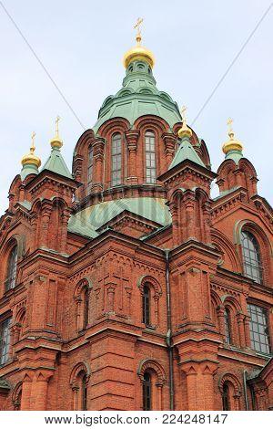 The Orthodox Uspensky Cathedral In Helsinki, Finland