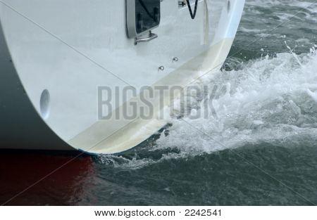Boat Wake At Stern