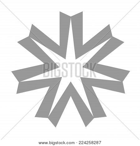 Vector illustration Hokkaido flag symbol icon isolated on white background. Hokkaido Japan prefecture, region
