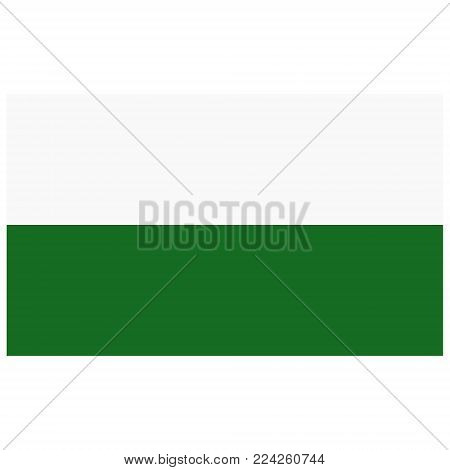 Vector icon flag of Saxony isolated on white background. Saxony federal state of Germany