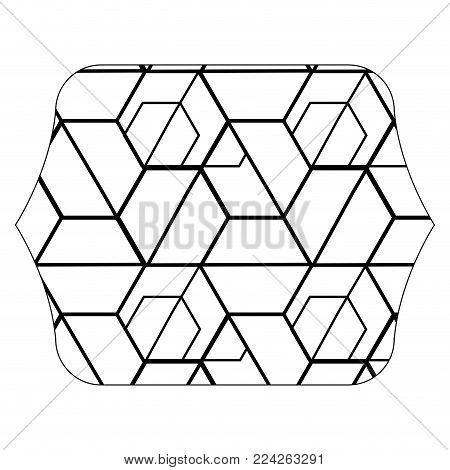 Quadrate With Seamless Pattern Graphic Background Decoration