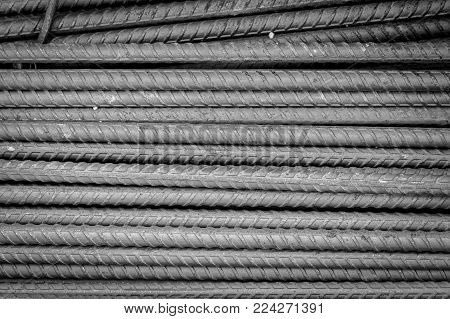 Rebars for reinforcement concrete structure in the construction site