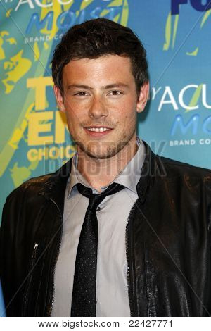 LOS ANGELES - AUG 7:  Cory Monteith in the Press Room at the 2011 Teen Choice Awards at Gibson Amphitheatre on August 7, 2011 in Los Angeles, CA