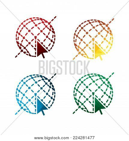 graphic Internet icons on white background. isolated Internet icons. eps8. on layers.