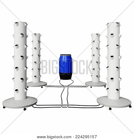 Grow Blcok with Hole for Hydroponics and aeroponic syistem