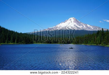 Trillium Lake at the base of Mount Hood in Oregon is a must see if your in the area.
