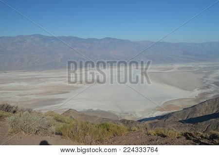 Panoramic Views Of The Valley Of Death. Travel Holidays Geology. June 28, 2018. Death Valley California. EEUU. USA.