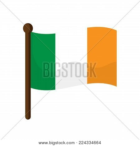 Ireland flag isolated on white background. Vectors stock.