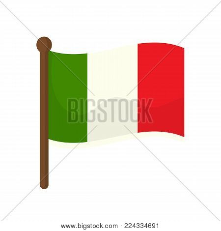 Italian flag isolated on white background. Vector stock.