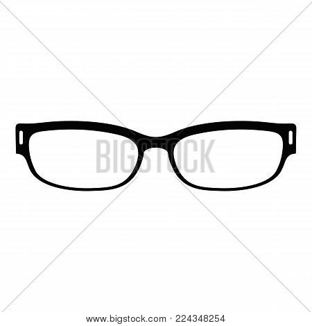 Reading glasses icon. Simple illustration of reading glasses vector icon for web