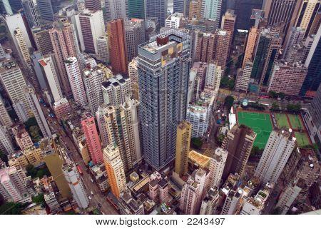 Hong Kong City Aerial View