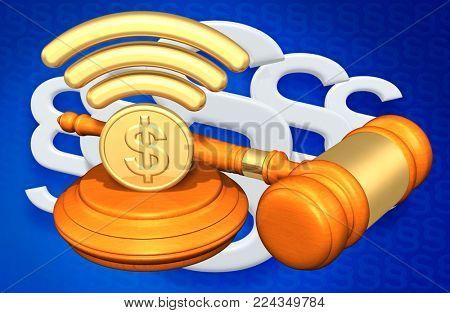 Legal Net Neutrality Concept 3D Illustration