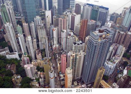 Hong Kong Wan Chai From Above