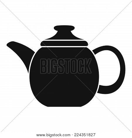 Steel teapot icon. Simple illustration of steel teapot vector icon for web