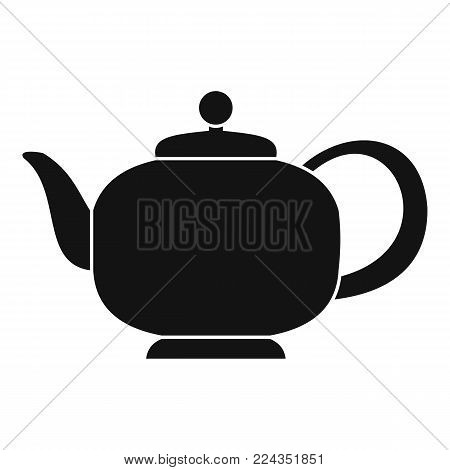 Teapot with handle icon. Simple illustration of teapot with handle vector icon for web