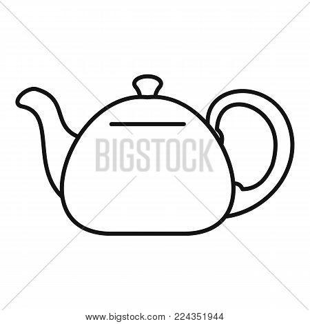 Ceramic teapot icon. Outline illustration of ceramic teapot vector icon for web