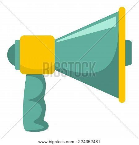 Megaphone with handle icon. Cartoon illustration of megaphone with handle vector icon for web