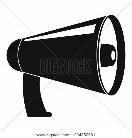 Old megaphone icon. Simple illustration of old megaphone vector icon for web