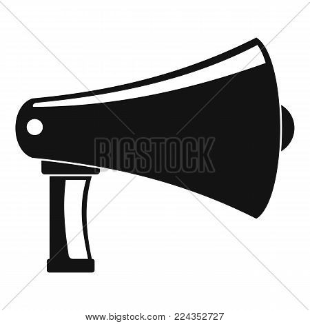 Vintage megaphone icon. Simple illustration of vintage megaphone vector icon for web