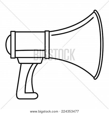 Sound of megaphone icon. Outline illustration of sound of megaphone vector icon for web