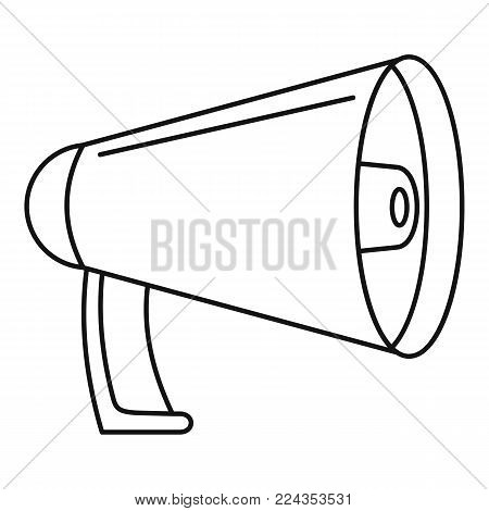 Noise of megaphone icon. Outline illustration of noise of megaphone vector icon for web