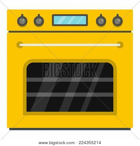 Big gas oven icon. Cartoon illustration of big gas oven vector icon for web