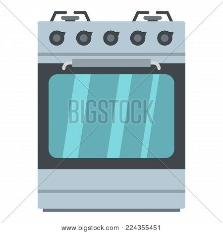 Small gas oven icon. Cartoon illustration of small gas oven vector icon for web