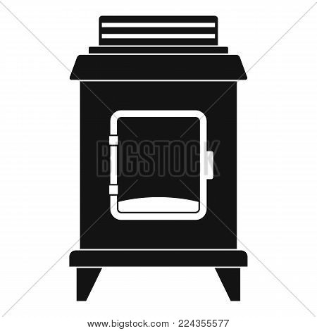 Old oven icon. Simple illustration of old oven vector icon for web