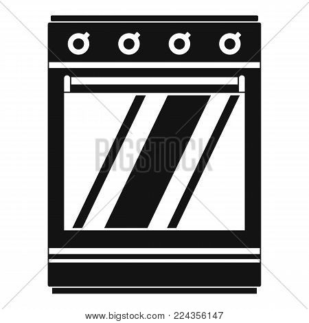 Modern gas oven icon. Simple illustration of modern gas oven vector icon for web