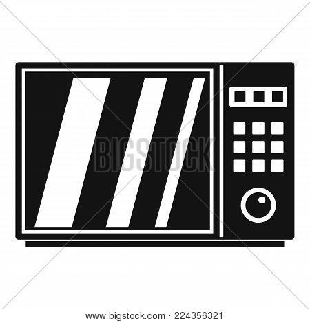 Electrical microwave oven icon. Simple illustration of electrical microwave oven vector icon for web