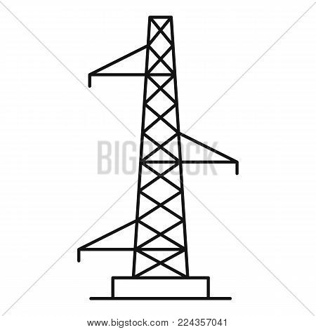 Voltage pole icon. Outline illustration of voltage pole vector icon for web