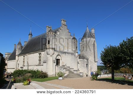 Exterior Of The Royal Lodge In Loches, France