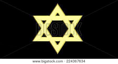 Star of David golden Jewish background israel